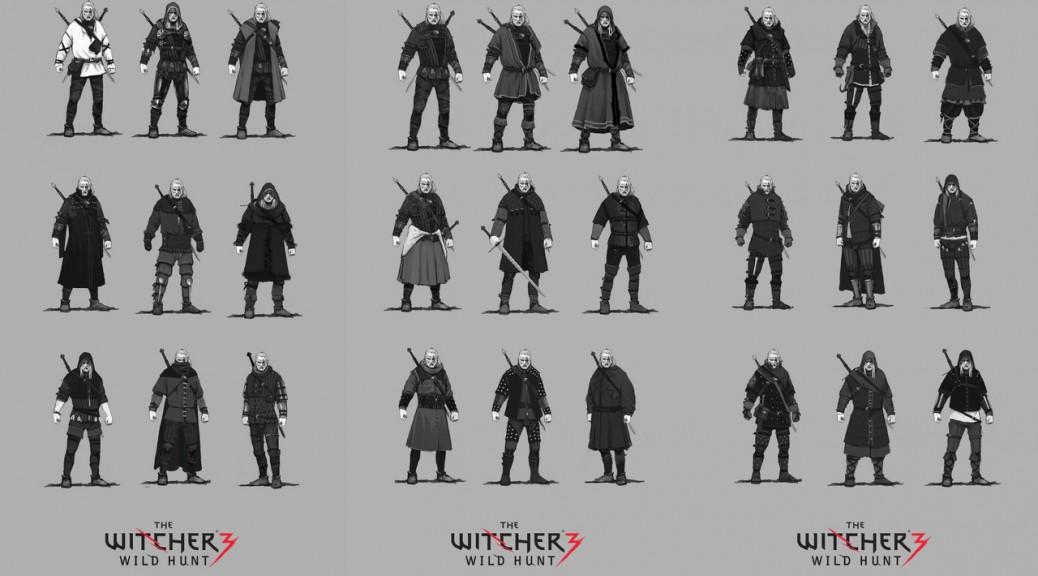 The Witcher 3 wild hunt ensembles d'armure variés